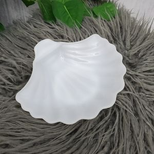 Milk White Glass Trinket Shell Dish |  Bowl